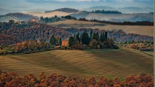 campagna toscana autunno brughiera nebbia_0