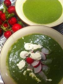 zuppa con foglie di ravanello