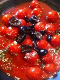 pomodori, olive e capperi
